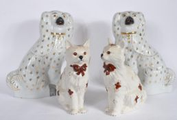 TWO LARGE STAFFORDSHIRE VICTORIAN FIGURINES