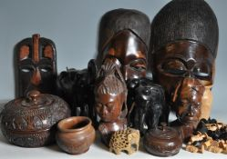 COLLECTION OF 20TH CENTURY TRIBAL ITEMS