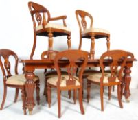 VICTORIAN STYLE MAHOGANY DINING ROOM SUITE