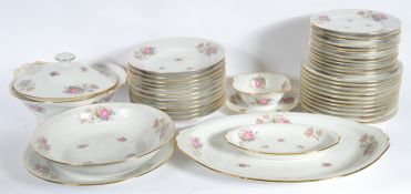 COLLECTION OF VINTAGE 20TH CENTURY LIMOGES CHINTZ TABLEWARE