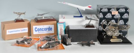 COLLECTION OF DIECAST MODELS OF PLANES