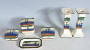 1930'S ART DECO ROYAL DOULTON DRESSING TABLE SET