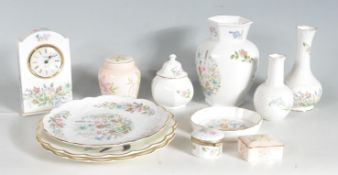 COLLECTION OF ROYAL WORCESTER AND AYNSLEY FINE BONE CHINA WARE