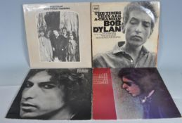 BOB DYLAN - GROUP OF FOUR VINYL RECORD ALBUMS