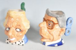 TWO LATE 20TH CENTURY VINTAGE CERAMIC KEVIN FRANCIS TOBY JUGS