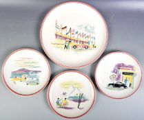 RARE SET OF 1960'S PORSCHE FACTORY GIFT PLATES BY ULMER KERAMIK