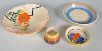 COLLECTION OF EARLY 20TH CENTURY CLARICE CLIFF CERAMICS