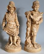 TWO VINTAGE 20TH CENTURY RESIN FIGURES