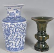 TWO CHINESE ORIENTAL VASES