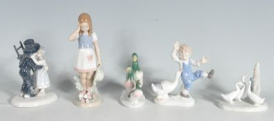GROUP OF LLADRO STYLE FIGURINES