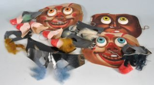COLLECTION OF EARLY 20TH CENTURY 1930S NOVELTY TOY MASKS