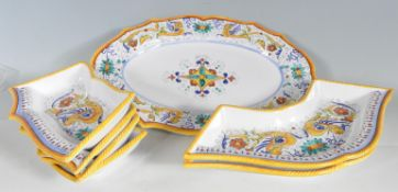 GROUP OF SPANISH FAIENCE SERVING PLATES