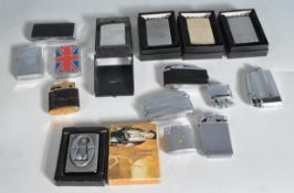 LARGE QUANTITY OF VINTAGE RETRO ZIPPO LIGHTERS