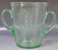 19TH CENTURY GREEN BUBBLE GLASS ICE BUCKET