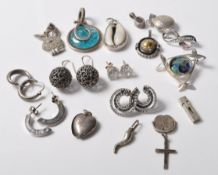 COLLECTION OF SILVER STAMPED 925 JEWELLERY.