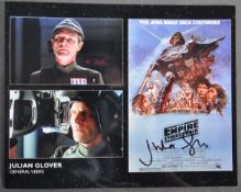 ESTATE OF DAVE PROWSE - EMPIRE STRIKES BACK JULIAN GLOVER SIGNED PHOTO