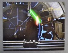 ESTATE OF DAVE PROWSE - JAMES EARL JONES & IAN MCDIARMID SIGNED PHOTO