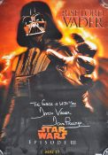 ESTATE OF DAVE PROWSE - STAR WARS - LARGE SIGNED POSTER