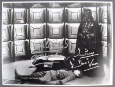 "ESTATE OF DAVE PROWSE - EMPIRE STRIKES BACK DUAL SIGNED 16X12"" PHOTO"