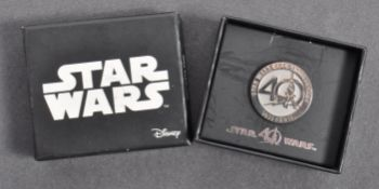 ESTATE OF DAVE PROWSE - MR PROWSE'S PERSONAL 40TH ANNIVERSARY PIN BADGE