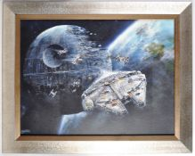 ESTATE OF DAVE PROWSE - STAR WARS - CANVAS ARTWORK PRINT