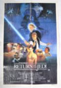 ESTATE OF DAVE PROWSE - AUSTRALIAN ROTJ STAR WARS POSTER