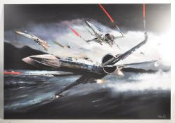 ESTATE OF DAVE PROWSE - S MOHAMED - RESISTANCE IN MOTION ALUMINIUM PRINT