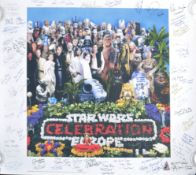 ESTATE OF DAVE PROWSE - STAR WARS - INCREDIBLE CAST SIGNED POSTER X50