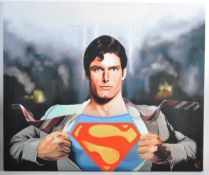 ESTATE OF DAVE PROWSE - SUPERMAN - ARTIST'S PRINT ON CANVAS