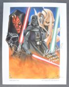 ESTATE OF DAVE PROWSE - STAR WARS - DUAL AUTOGRAPHED ARTWORK