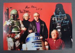 ESTATE OF DAVE PROWSE - TRIPLE SIGNED STAR WARS PHOTOGRAPH