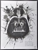 ESTATE OF DAVE PROWSE - FAN ARTWORK - DARTH VADER PAINTING