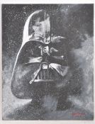 ESTATE OF DAVE PROWSE - STAR WARS FAN ART - OIL ON CANVAS PAINTING