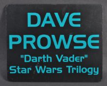 ESTATE OF DAVE PROWSE - CONVENTION APPEARANCE SIGN