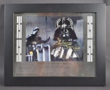 ESTATE OF DAVE PROWSE - LAZER MOUNT DISPLAY AUTOGRAPH PRESENTATION