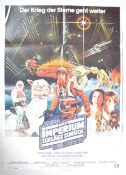 ESTATE OF DAVE PROWSE - EMPIRE STRIKES BACK ORIGINAL 1 SHEET POSTER
