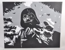 ESTATE OF DAVE PROWSE - FAN ARTWORK - OIL ON CANVAS PAINTING