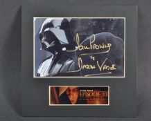 ESTATE OF DAVE PROWSE - REVENGE OF THE SITH SIGNED DISPLAY