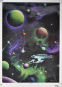 ESTATE OF DAVE PROWSE - MICHAEL DAVID WARD - STAR TREK PRINT