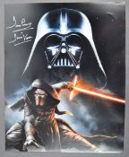 """ESTATE OF DAVE PROWSE - LARGE DISNEY TRILOGY SIGNED PHOTO 16X20"""""""