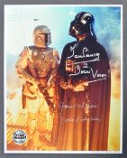 ESTATE OF DAVE PROWSE - PROWSE & JAMES EARL JONES DUAL SIGNED PHOTO