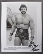 ESTATE OF DAVE PROWSE - LOU FERRIGNO SIGNED PHOTOGRAPH