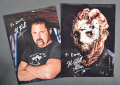ESTATE OF DAVE PROWSE - KANE HODDER (FRIDAY 13TH) SIGNED PHOTOS