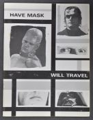 ESTATE OF DAVE PROWSE - HAVE MASK WILL TRAVEL SIGNED X4
