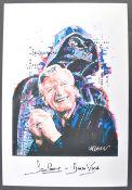 ESTATE OF DAVE PROWSE - SIGNED POP-ART DARTH VADER PRINT