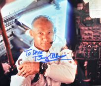 ESTATE OF DAVE PROWSE - BUZZ ALDRIN SIGNED PHOTOGRAPH