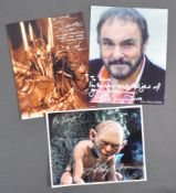 ESTATE OF DAVE PROSE - LORD OF THE RINGS AUTOGRAPH COLLECTION