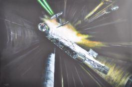 ESTATE OF DAVE PROWSE - STAR WARS - S. MOHAMED ARTWORK CANVAS