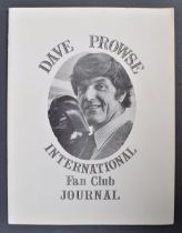 ESTATE OF DAVE PROWSE - PERSONAL FAN CLUB JOURNAL NO.1