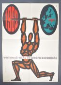 ESTATE OF DAVE PROWSE - 1962 HUNGARIAN WEIGHT LIFTING POSTER
